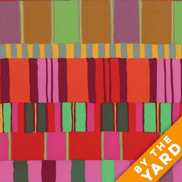 Artisan by Kaffe Fassett  - Layered Stripe - Red - By the Yard