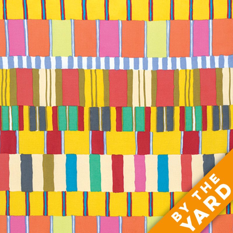 Artisan by Kaffe Fassett  - Layered Stripe - Yellow - By the Yard