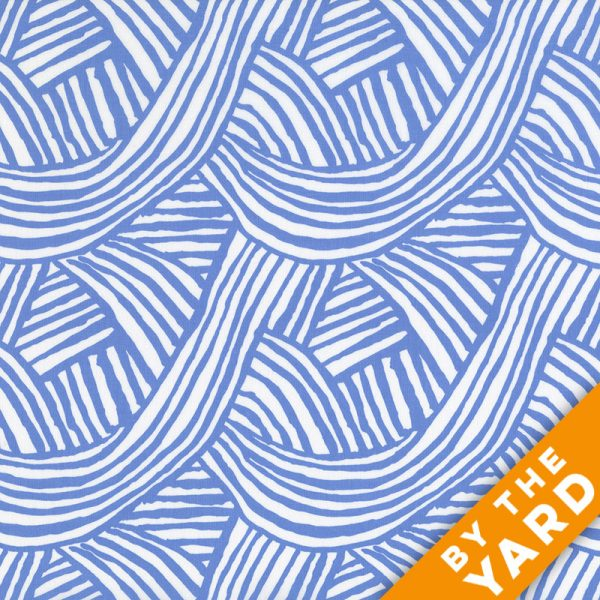 Artisan by Kaffe Fassett  - Raked - Blue - By the Yard