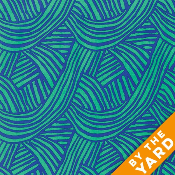 Artisan by Kaffe Fassett  - Raked - Cobalt - By the Yard