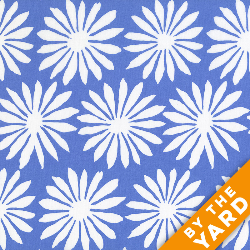 Artisan by Kaffe Fassett  - Gerbera - Blue - By the Yard