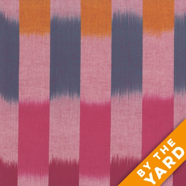 Artisan by Kaffe Fassett - Woven - Ikat Stripes - Red - By the Yard