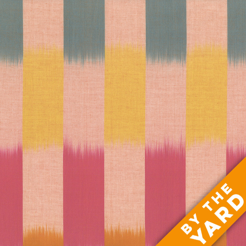 Artisan by Kaffe Fassett - Woven - Ikat Stripes - Sunny - By the Yard