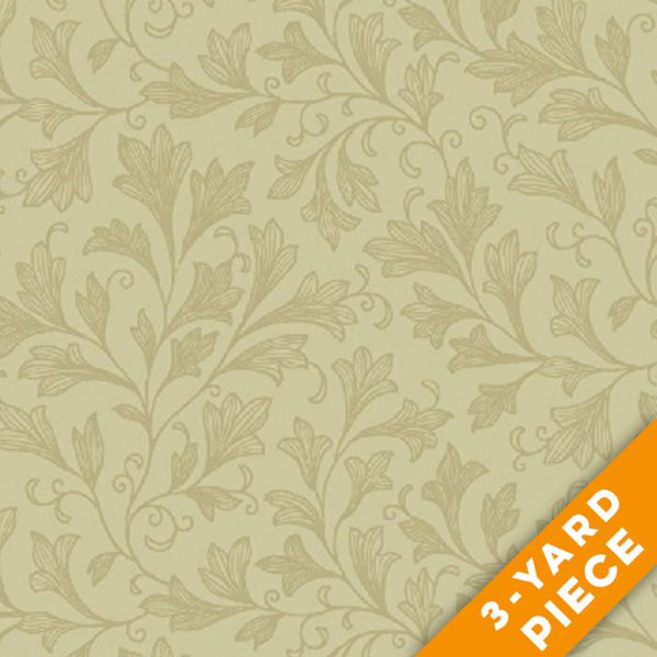 "Windham 108"" Quilt Back - Vine 32680-1-3YD - Tan PRECUT 3-YARD PIECE"