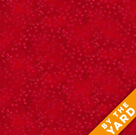 Henry Glass Folio - Red 7755-82 - Fabric By the Yard