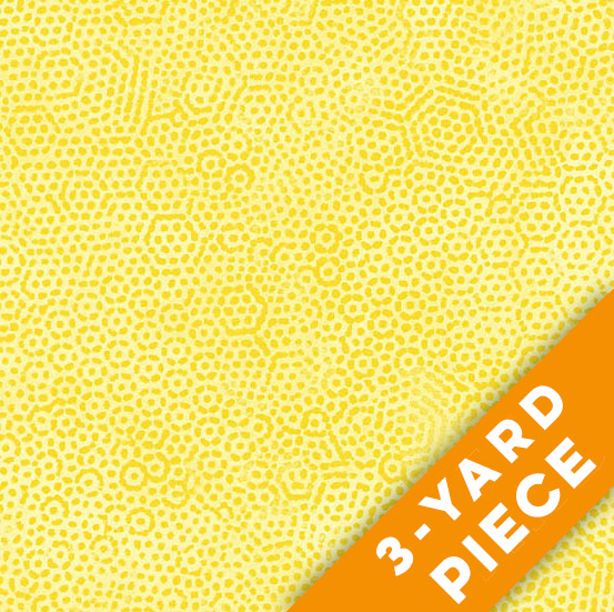 "Dimples 108"" Quilt Backs 8408-Y - Yellow PRECUT 3-YARD PIECE"