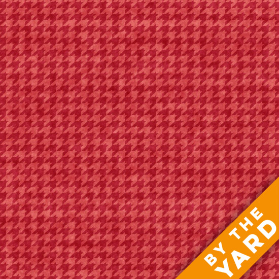 Henry Glass Houndstooth - Rose 8624-22 - Fabric By the Yard