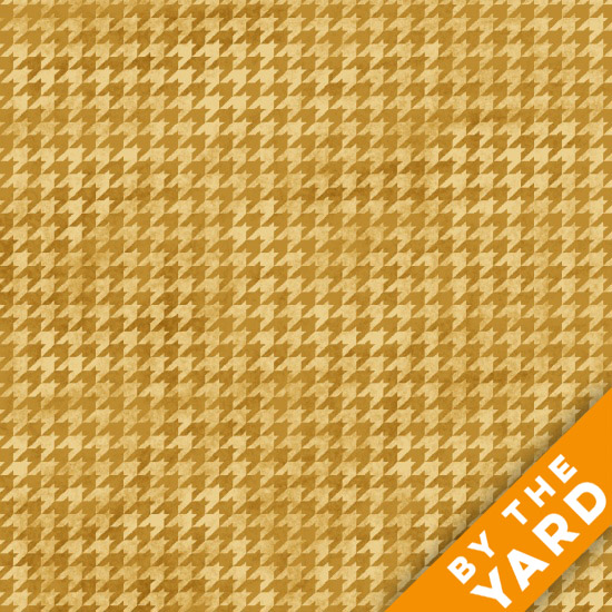 Henry Glass Houndstooth - Wheat 8624-33 - Fabric By the Yard