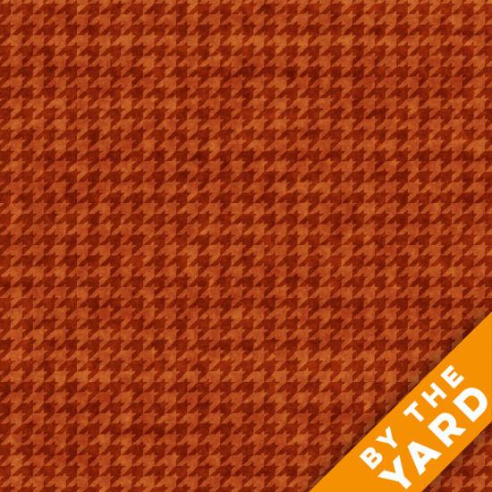 Henry Glass Houndstooth - Russet 8624-35 - Fabric By the Yard