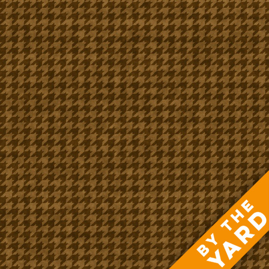 Henry Glass Houndstooth - Brown 8624-38 - Fabric By the Yard