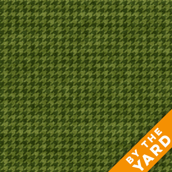 Henry Glass Houndstooth - Forest 8624-66 - Fabric By the Yard