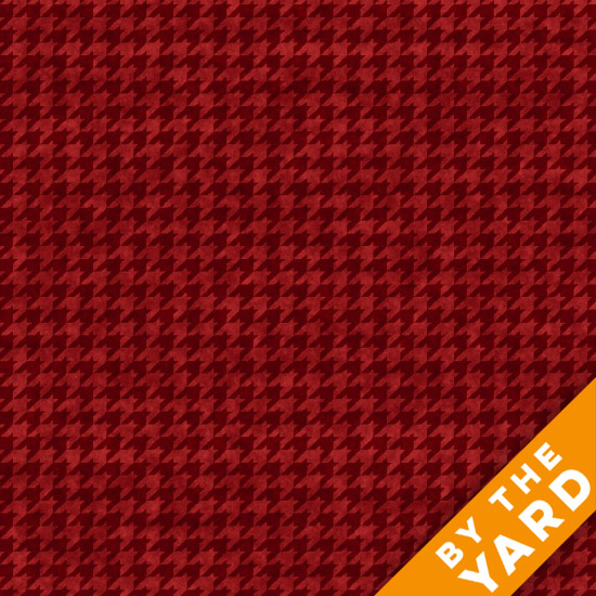 Henry Glass Houndstooth - Red 8624-88 - Fabric By the Yard