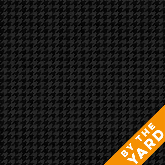 Henry Glass Houndstooth - Black 8624-99 - Fabric By the Yard