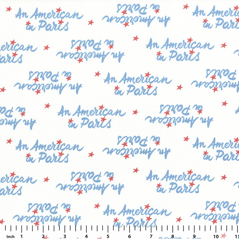 Andover - An American in Paris - 8271 - White - Fabric By the Yard