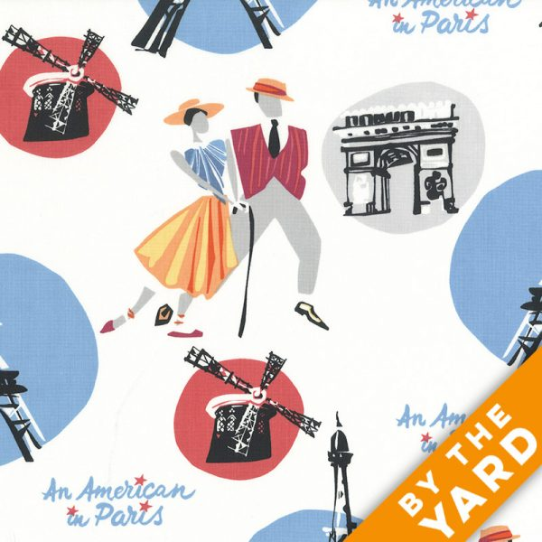 Andover - An American in Paris - 8265 - White - Fabric By the Yard