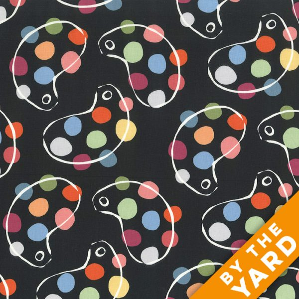 Andover - An American in Paris - 8267 - Black - Fabric By the Yard