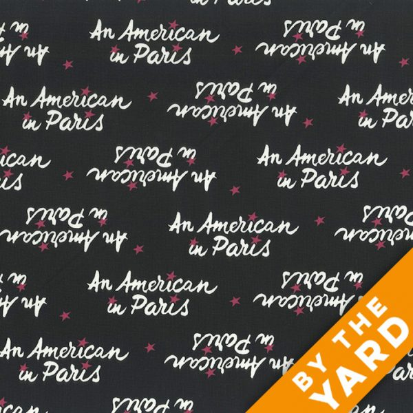 Andover - An American in Paris - 8271 - Black - Fabric By the Yard