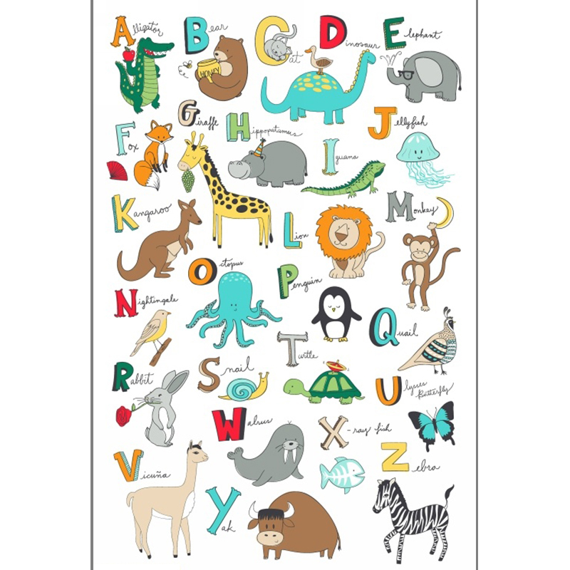 Windham Fabrics - Animal ABC's Super Panel