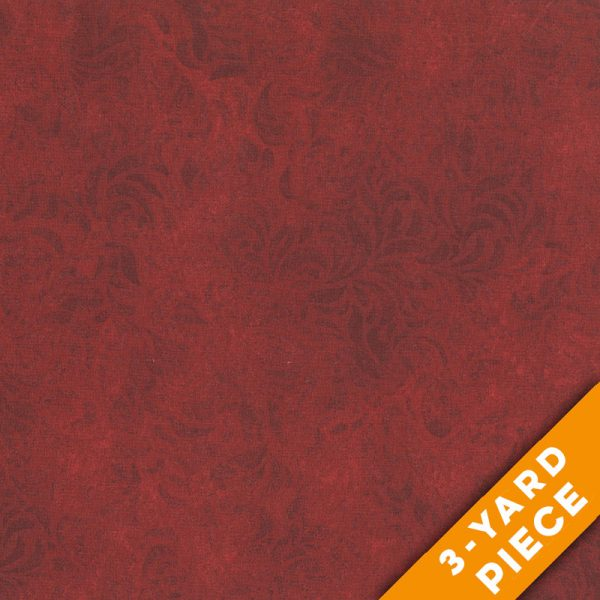 "Bella Suede 110"" Quilt Backs 460DX - Red PRECUT 3-YARD PIECE"
