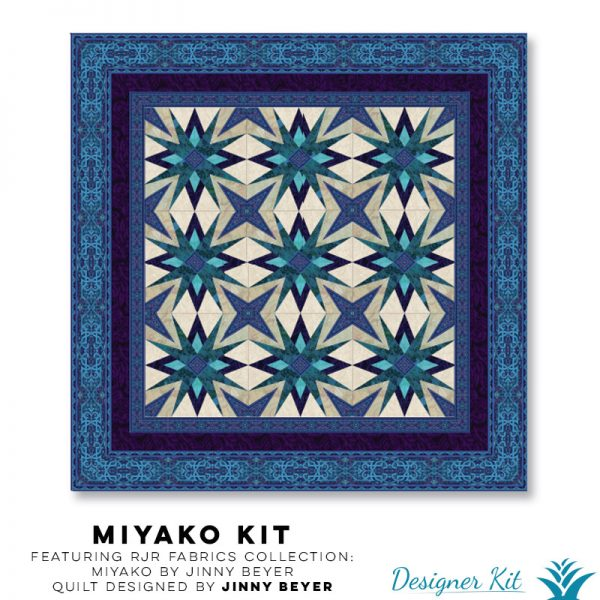 Miyako Featuring RJR Fabrics Collection: Miyako by Jinny Beyer Designed by Jinny Beyer - Designer Kit