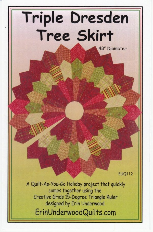Triple Dresden Tree Skirt Pattern
