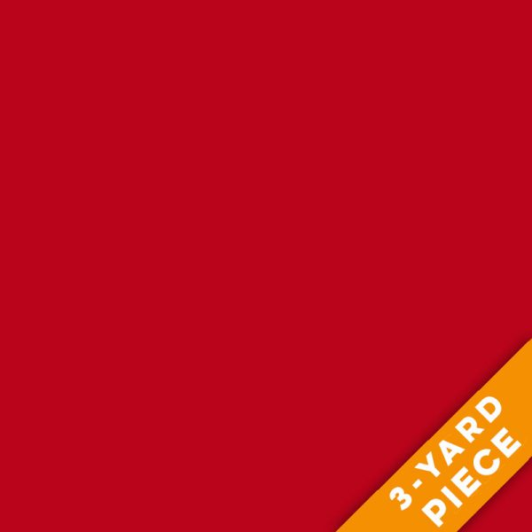 "Fabri-Quilt 118"" Wide Sateen - Red - 191-A02 PRECUT 3-YARD PIECE"