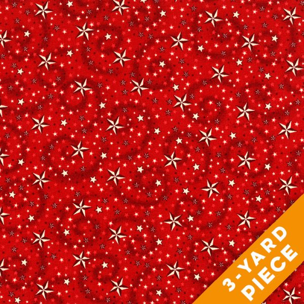 "American Dreams 108"" Quilt Backs 9813-88 - Red PRECUT 3-YARD PIECE"