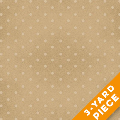 "Henry Glass 108"" Quilt Back Basics by The Buggy Barn 7101-42 - Tan Dot PRECUT 3-YARD PIECE"