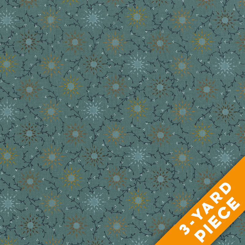 "Prairie Vine by Kim Diehl 108"" Quilt Backs 6235-11 -Teal PRECUT 3-YARD PIECE"