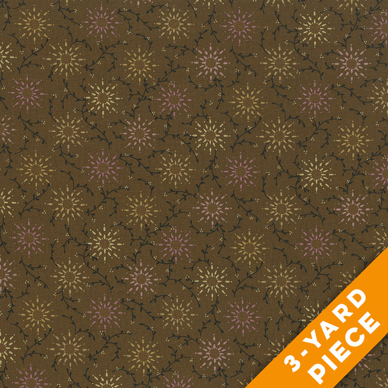 "Prairie Vine by Kim Diehl 108"" Quilt Backs 6235-33 - Brown PRECUT 3-YARD PIECE"