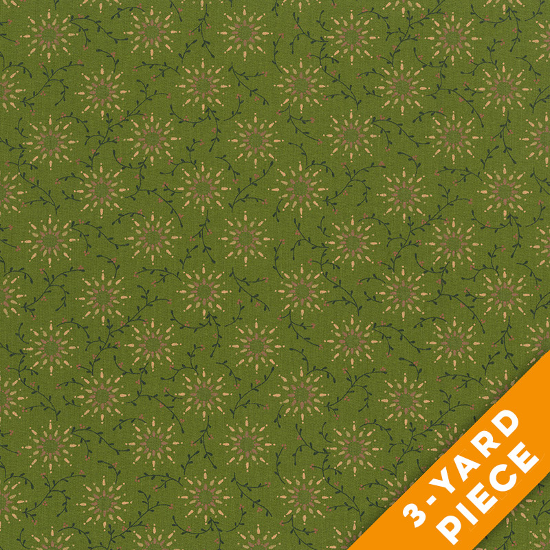 "Prairie Vine by Kim Diehl 108"" Quilt Backs 6235-66 - Green PRECUT 3-YARD PIECE"