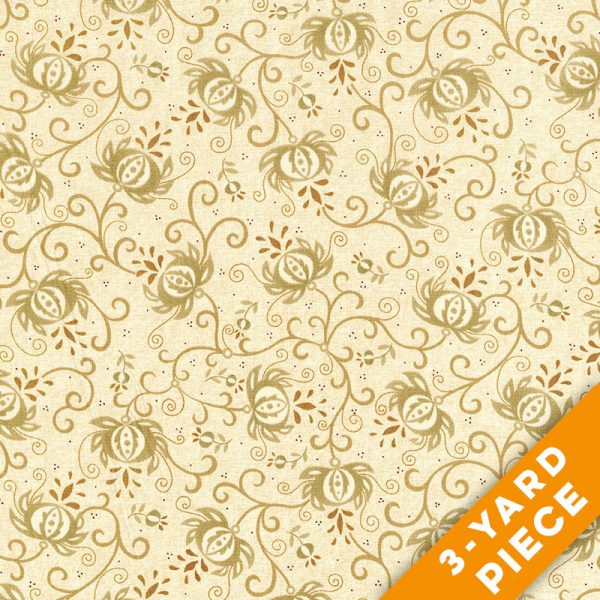 "Spiced Pomegranate by Kim Diehl 108"" Quilt Backs 6631-44 - Light Tan PRECUT 3-YARD PIECE"