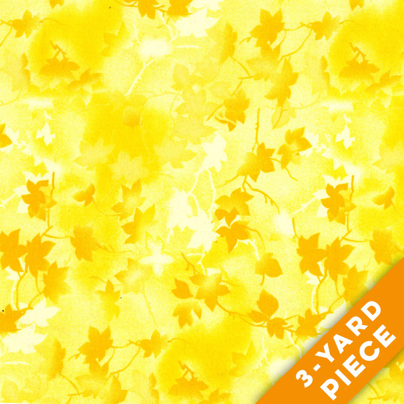 "Ivy 116"" Quilt Backs - Yellow - 183-03 PRECUT 3-YARD PIECE"