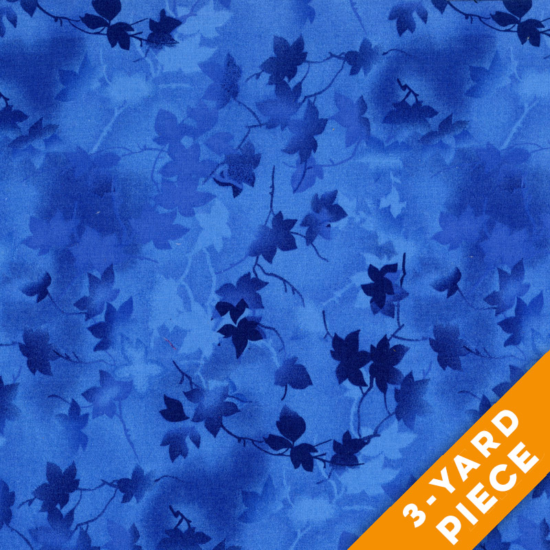 "Ivy 116"" Quilt Backs - Blue - 183-01 PRECUT 3-YARD PIECE"