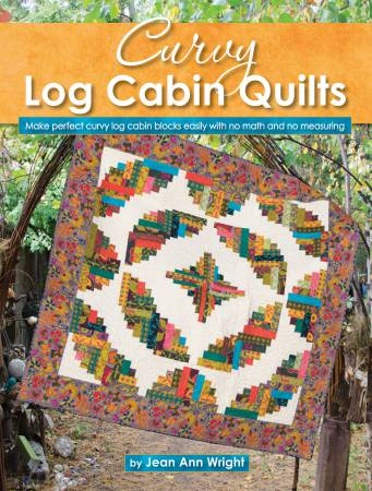 Curvy Log Cabin Quilts Softcover Pattern Book
