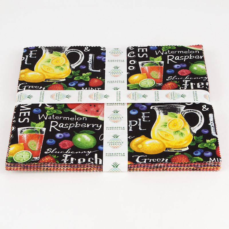 "Farmer John's Fruits - 10"" Squares"