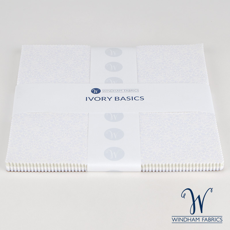 "Ivory Basics by Windham Fabrics - 10"" Squares - 42 pieces"