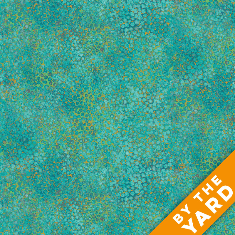 Artisan Spirit Shimmer by Northcott - Peacock - 20257M-67 - Fabric by the Yard