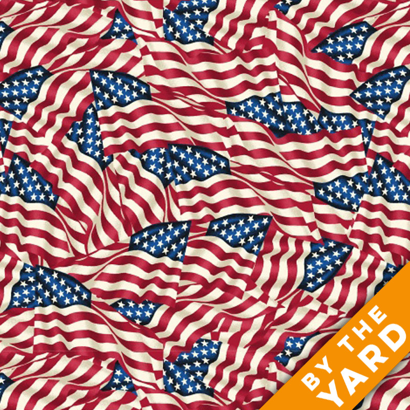 "Windham 108"" Quilt Back - American Flags"