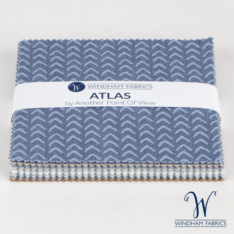 "Atlas by Another Point of View for Windham Fabrics  - 5"" Squares"