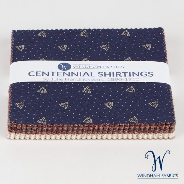 "Centennial Shirtings by Julie Hendricksen for Windham Fabrics  - 5"" Squares"