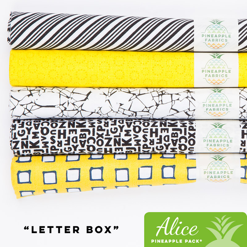 Letter box alice pineapple pack pineapple fabrics letter box spiritdancerdesigns Image collections