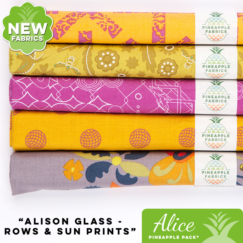 Rows & Sun Prints by Alison Glass - Alice Pineapple Pack