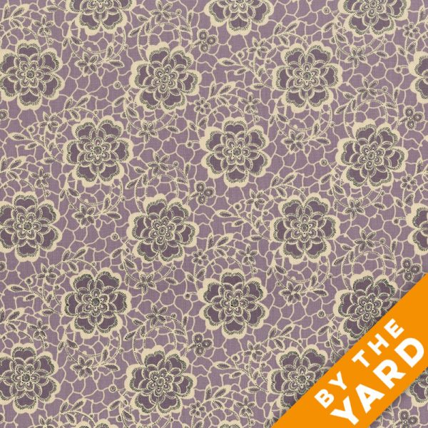 Andover - Downton Abbey - The Dowager's Lace - Purple - 7319-P - Fabric by the Yard