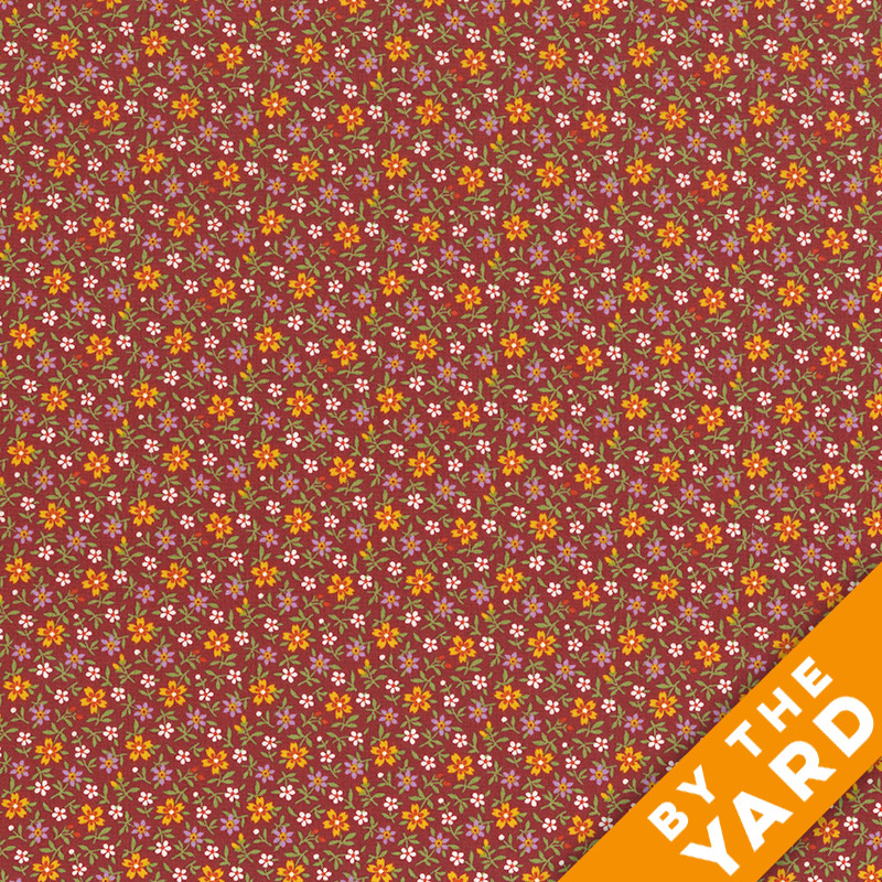 Andover - Little House on the Prairie - Spring Flowers - 7951-R - Fabric by the Yard