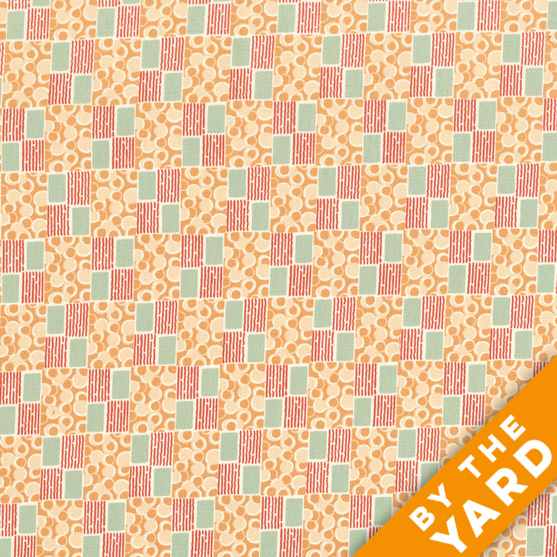 Andover - Downton Abbey - 7229 Orange - Fabric by the Yard