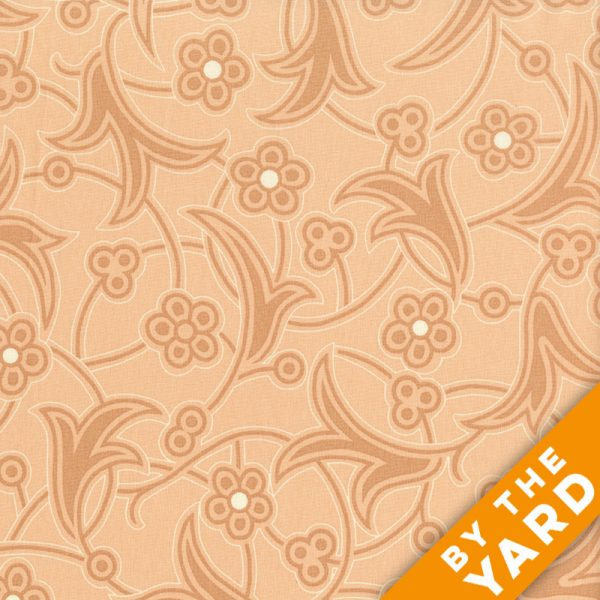 Andover - Downton Abbey - 7327 Peach - Fabric by the Yard