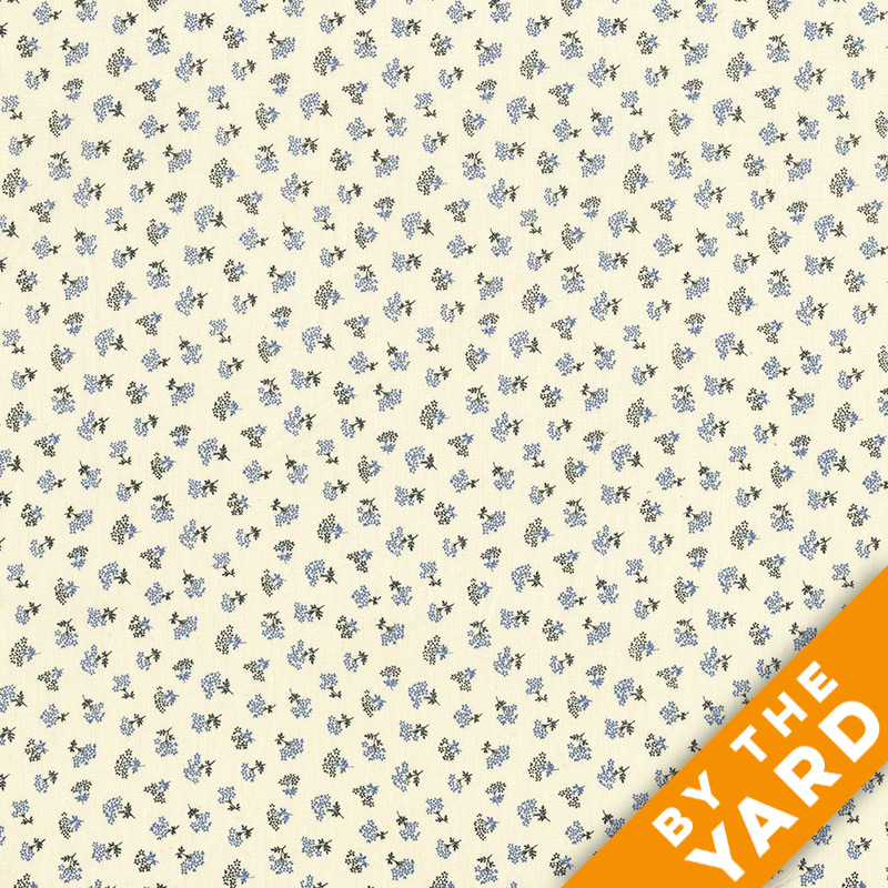Andover - Downton Abbey - 7597 Blue - Fabric by the Yard
