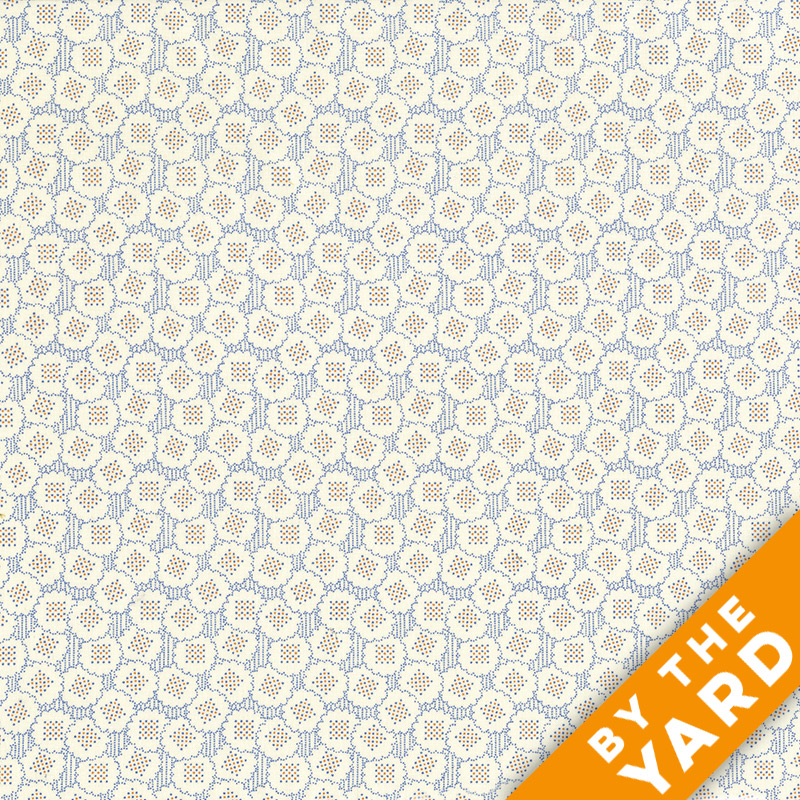 Andover - Downton Abbey - 7600 Blue - Fabric by the Yard