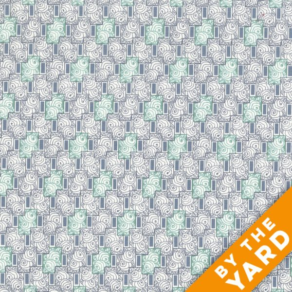 Andover - Downton Abbey - 7614 Grey - Fabric by the Yard